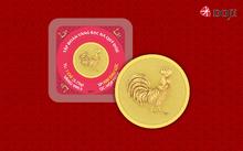 Hơn 20.000 đồng vàng in hình gà trống làm quà cho Tết Đinh Dậu
