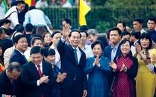 Chủ tịch nước Trần Đại Quang gặp gỡ kiều bào tiêu biểu chiều 20/1.