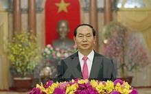 Chủ tịch nước Trần Đại Quang đọc Thư chúc Tết đồng bào, đồng chí, chiến sĩ cả nước, đồng bào ở nước ngoài, các bạn nước ngoài đang sinh sống, làm việc , học tập tại Viêt Nam.