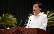 Bí thư Đinh La Thăng phát biểu tại buổi gặp gỡ 322 bí thư phường, xã, thị trấn, trên địa bàn TP.HCM sáng 3/2.
