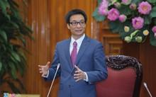 Phó thủ tướng tại buổi gặp mặt.