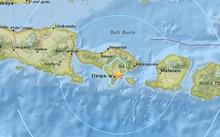 Khu vực xảy ra động đất (sao vàng). Ảnh: USGS.