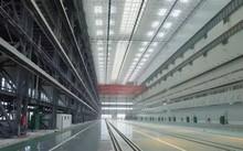 Hình ảnh được cho là bên trong siêu nhà máy đóng tàu của Trung Quốc ở vịnh Bột Hải. Ảnh: BSHIC