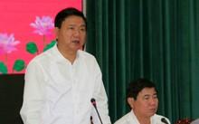 Bí thư Đinh La Thăng phát biểu tại hội nghị tổng kết giữa TP.HCM và Gia Lai sáng 18/4.