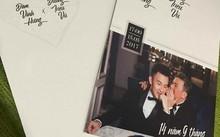 Thiệp mời khiến mạng xã hội cho rằng Mr. Đàm tổ chức đám cưới với Dương Triều Vũ. Ảnh: FBNV.