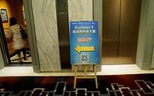 Tấm biển quảng cáo về hội thảo đầu tư vào dự án bất động sản của gia đình Kushner đặt tại sảnh khách sạn ở Thượng Hải, Trung Quốc. Ảnh: Reuters