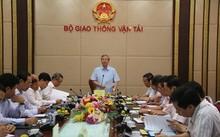 Đồng chí Trần Quốc Vượng, Ủy viên Bộ Chính trị, Trưởng Đoàn công tác làm việc tại Bộ GTVT. Ảnh: Cổng thông tin điện tử Bộ GTVT.