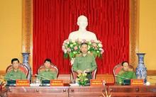 Bộ trưởng Tô Lâm phát biểu tại buổi họp. Ảnh: Bộ Công an