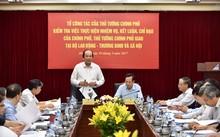 Bộ trưởng, Chủ nhiệm VPCP Mai Tiến Dũng phát biểu tại buổi làm việc với Bộ LĐTB&XH.