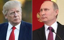 Tổng thống Nga Vladimir Putin (trái) và Tổng thống Mỹ Donald Trump. (Nguồn: news.sky.com)