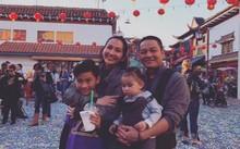 Gia đình hạnh phúc của Kim Hiền. Ảnh: FBNV.