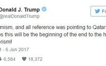 Dòng chia sẻ của Tổng thống D. Trump trên trang Twitter cá nhân