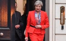 Thủ tướng Anh Theresa May hôm qua rời trụ sở đảng Bảo thủ ở London. Ảnh: Getty Images.