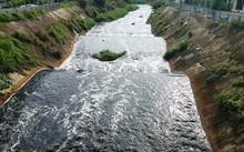 Nước kênh đen ngòm, bốc mùi nồng nặc sau cơn mưa