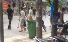 Nhóm thanh niên hỗn chiến tại Hà Nội chiều 10/6. Ảnh cắt từ clip