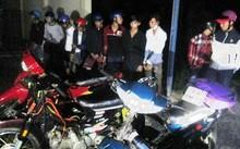 Số thanh niên định tổ chức tụ tập đua xe bị tạm giữ. Ảnh: Công an cung cấp.
