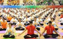 Màn đồng diễn Yoga tại Cung thể thao Quần ngựa năm 2015 thu hút hơn 5.000 tham gia.