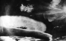 Quả bom hạt nhân đầu tiên được Liên Xô thả từ máy bay. Ảnh: Wikipedia.
