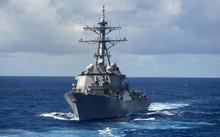Tàu khu trục USS Fitzgerald của Hải quân Mỹ. Ảnh: AP.