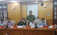 Thiếu tướng Phạm Lê Xuất, Phó Chánh Thanh tra Bộ Công an, phát biểu