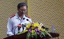Phó chánh thanh tra TP Hà Nội Nguyễn An Huy trình bày dự thảo kết luận.