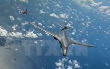 Máy bay ném bom chiến lược B-1B của Mỹ. (Nguồn: EPA/TTXVN)