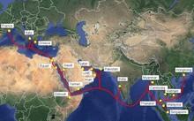 Sơ đồ hệ thống cáp biển AAE-1. (Nguồn: Viettel)