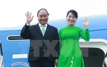 Lễ đón Thủ tướng Nguyễn Xuân Phúc và Phu nhân tại sân bay Schiphol Amsterdam.