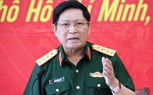Đại tướng Ngô Xuân Lịch làm việc với Tổng công ty Tân Cảng sáng nay.