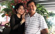 Giao Linh bên ông xã 75 tuổi ở một sự kiện.