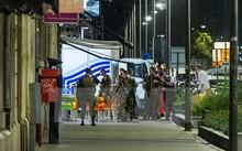 Cảnh sát gác tại hiện trường vụ tấn công ở Brussels. (Nguồn: AFP/TTXVN)