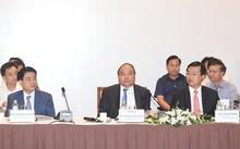 Thủ tướng Nguyễn Xuân Phúc tại diễn đàn Kinh tế Tư nhân Việt Nam. Ảnh: VGP/Quang Hiếu