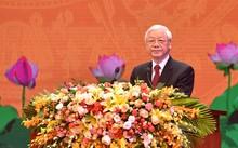 Tổng Bí thư Nguyễn Phú Trọng phát biểu tại Lễ kỷ niệm. Ảnh: VGP/Nhật Bắc