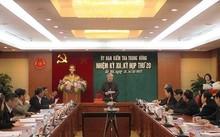 Toàn cảnh kỳ họp thứ 20 của UBKT TƯ