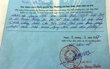 Hà Nội: Cán bộ xã phê bình trong lý lịch của tân sinh viên