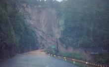 Khu vực đèo Tà Lương nơi 30 hành khách bị mắc kẹt. Ảnh: Dân trí