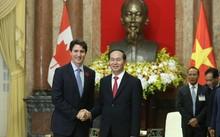 Chủ tịch nước Trần Đại Quang và Thủ tướng Justin Trudeau. Ảnh: Lao Động