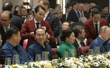 Chủ tịch nước Trần Đại Quang cùng phu nhân ngồi gần Tổng thống Nga Putin và Chủ tịch Trung Quốc Tập Cận Bình. Ảnh: Zin