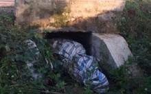 Hiện trường nơi phát hiện xác người bị bó trong bao tải. Ảnh: Vietnamnet