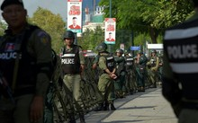 Campuchia đang siết chặt an ninh do tình hình bất ổn chính trị. Ảnh: AFP