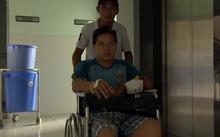 Tài xế Tân tại bệnh viện. Ảnh: NLĐ