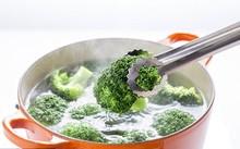Một nửa dinh dưỡng của một số loại rau sẽ bị mất khi luộc