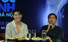 Noo Phước Thịnh và nhạc sĩ Hồ Hoài Anh trong buổi giới thiệu liveshow của nam ca sĩ tại Hà Nội.