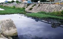 Nước thải KCN Gián Khẩu thải ra môi trường chưa qua xử lý khiến kênh nước giáp QL 1A có màu đen ngòm, đặc quánh, sủi bọt, mùi hôi thối nồng nặc.