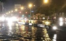 Có trạm bơm khổng lồ, đường Nguyễn Hữu Cảnh vẫn ngập