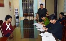 Đối tượng Sùng Mí Say (X) tại cơ quan Cảnh sát điều tra.