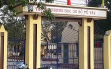 Trường THCS Vũ Tây, nơi xảy ra vụ việc hai thanh niên phi xe máy vào trường rồi dùng dao đâm bảo vệ trọng thương