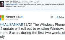 Microsoft sẽ bắt đầu cập nhật WP8.1 đầu tiên tại Ấn Độ