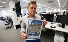 """Tổng biên tập tờ Aftenposten, ông Espen Egil Hansen, viết thư bày tỏ lo ngại Zuckerberg đang """"lạm dụng quyền lực"""". Ảnh: EPA"""