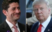 Chủ tịch Hạ viện Paul Ryan và ứng viên tổng thống Mỹ đảng Cộng hoà Donald Trump. Ảnh: ChicagoTribune